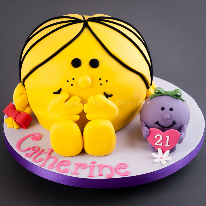 Little Miss Sunshine 21st birthday cake