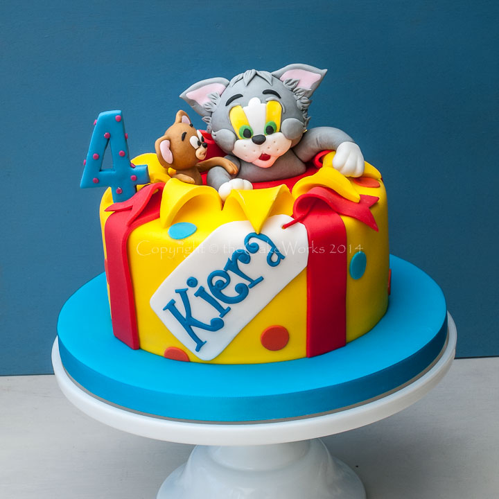Tom and Jerry surprise birthday party cake