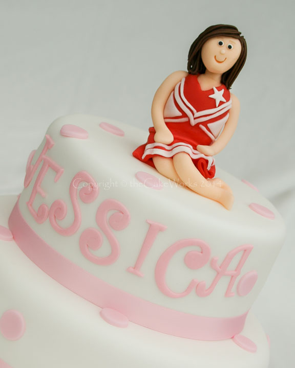 Birthday cake designs for girls - Cheerleader design